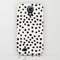 Preppy brushstroke free polka dots black and white spots dots dalmation animal spots design minimal Slim Case Galaxy S4