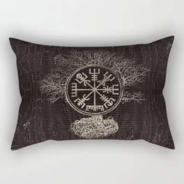 Vegvisir  and Tree of life  -Yggdrasil Rectangular Pillow