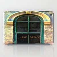 the office iPad Cases featuring Law Office by Biff Rendar