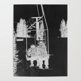 Inverted Ski Lift Poster