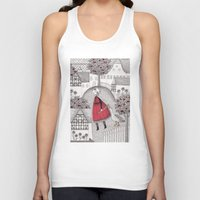 lady gaga Tank Tops featuring The Old Village by Judith Clay