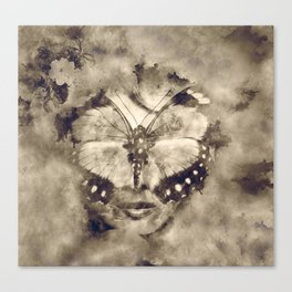 Butterfly lady Canvas Print