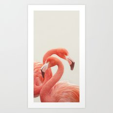 FLAMINGOS by Monika Strigel Art Print