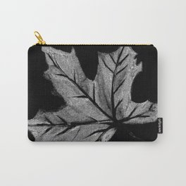 Leaf Black and White Carry-All Pouch