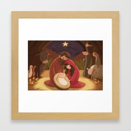 A Child is Born Framed Art Print