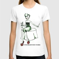 martini T-shirts featuring Martini Girl by Jordis Unga