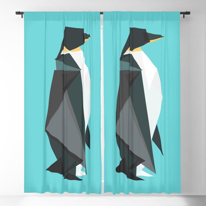 Fractal geometric emperor penguin Blackout Curtain