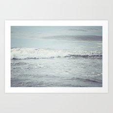 Silvery Sea Art Print