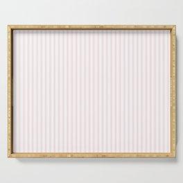 Light Soft Pastel Pink and White Mattress Ticking Serving Tray