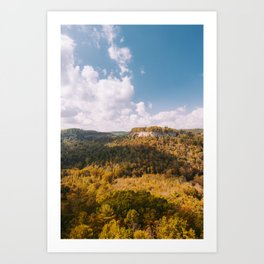 View from Chimney Top Rock - Red River Gorge, Kentucky Art Print