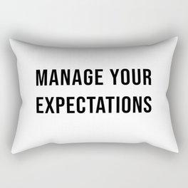 Manage Your Expectations Rectangular Pillow