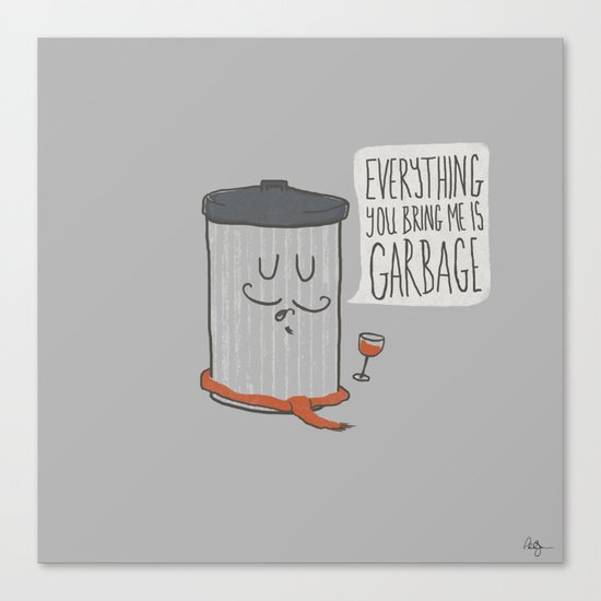 French Trash Can Canvas Print