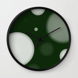 Orbs Verde Wall Clock