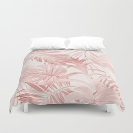 Pinky palm Duvet Cover
