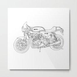 NORTON COMMANDO 961 CAFE RACER 2011, original artwork Metal Print