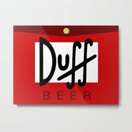 Duff Beer Logo Red Metal Print