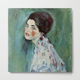 "Gustav Klimt ""Portrait of a lady"" Metal Print"