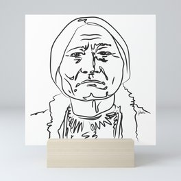 Face Sitting Bull Mini Art Print