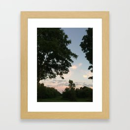 summer dusk Framed Art Print