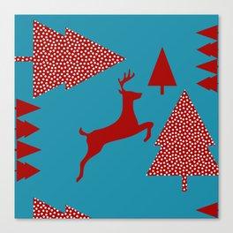 Reindeer blue Canvas Print
