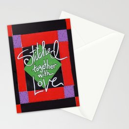Stiched Together With Love Stationery Cards