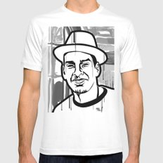 Pablo White MEDIUM Mens Fitted Tee
