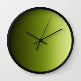Ombre Greens Reversed 1 Wall Clock