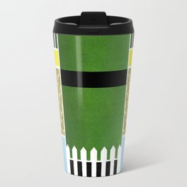 GREEN, BLUE, YELLOW AND STRIPES Travel Mug