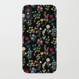 Spring Botanicals Black iPhone Case