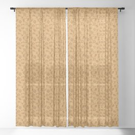 Cattle Brands on Leather Sheer Curtain