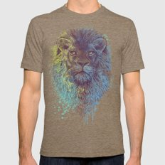 Lion King Mens Fitted Tee LARGE Tri-Coffee