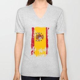 ES ESP Spain Flag Unisex V-Neck