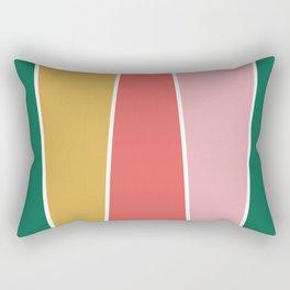 Summer Garden Color Block Rectangular Pillow