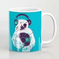 bear Mugs featuring Record Bear by Picomodi