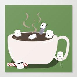 Marshmallow Hot Tub Canvas Print