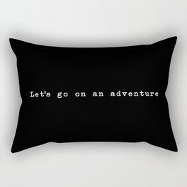 Adventure [Black] Rectangular Pillow
