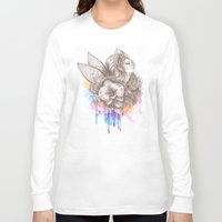 orchid Long Sleeve T-shirts featuring Orchid by Bea González