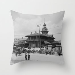 Pensacola, Florida 1900 Throw Pillow