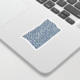 Hand Knit Zoom Navy Sticker