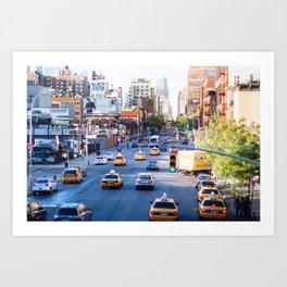 NYC, taxis Art Print