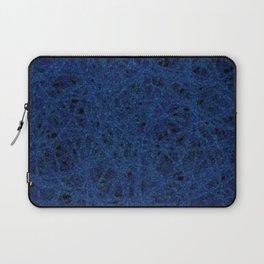 Slate Blue Thread Texture Abstract Laptop Sleeve