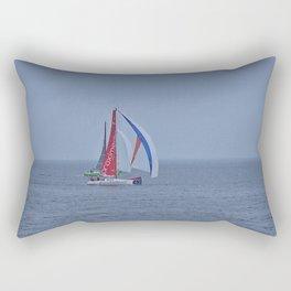 part 2 of 4 of Sailing Battle 42-56  - Transat Quebec St-Malo Rectangular Pillow