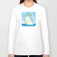 dick Long Sleeve T-shirts featuring Moby Dick by David Sevilla