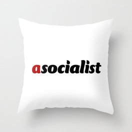 asocialist Throw Pillow
