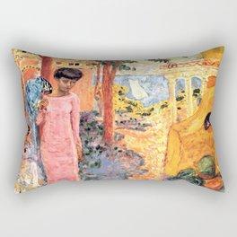 Pierre Bonnard - Femme au Perroquet - Woman with Parrot - Les Nabis Painting Rectangular Pillow