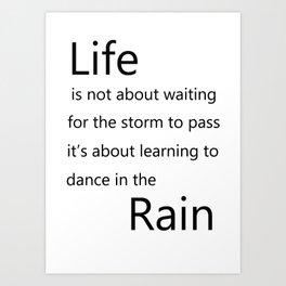 Dancing in the rain Art Print