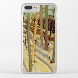 Tom Thomson Snow in the Woods (II) c. 1915 Canadian Landscape Artist Clear iPhone Case