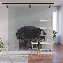 BLACK PUG - Pug Dog Lover Wall Mural