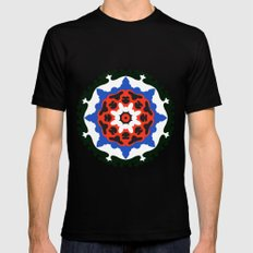 Bold and bright beauty of suzani patterns ver.7 MEDIUM Black Mens Fitted Tee