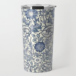 William Morris Navy Blue Botanical Pattern 6 Travel Mug